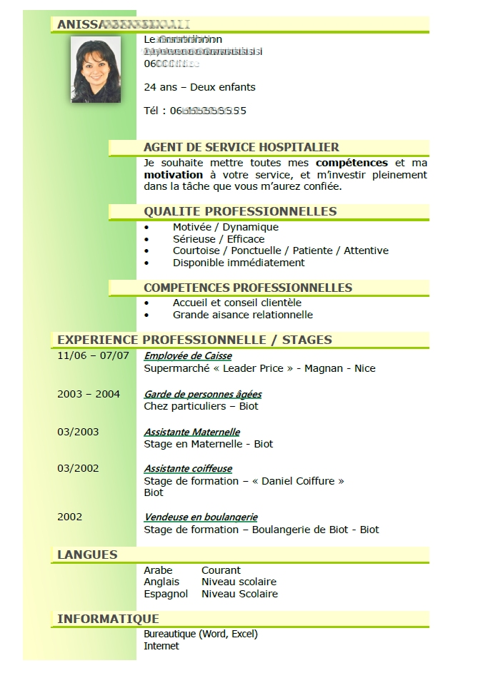 Exemple cv ash maison de retraite comment faire un cv 2018 for Agent maison de retraite